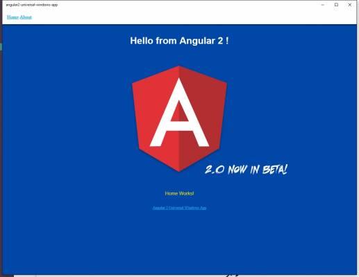 Angular 2 használata UWP app-ban